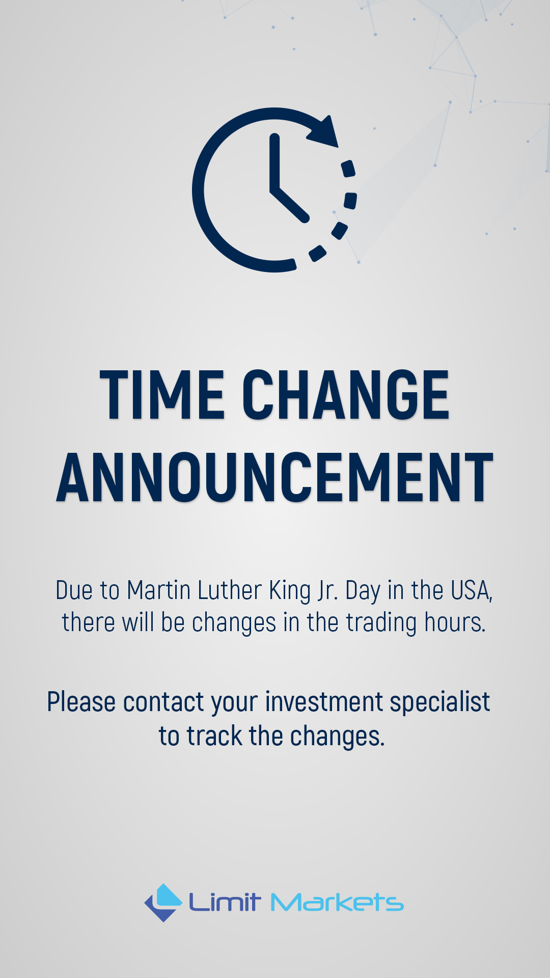 Time Change Announcement